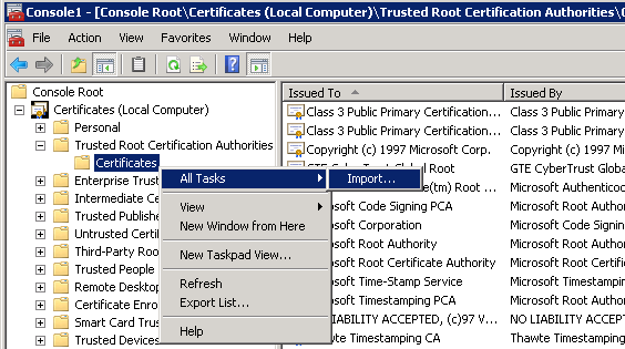 Certificates for exchange 2010 using internal ca zedan it blog from the exchange management console click server configuration the exchange certificate we requested then click on complete pending request yelopaper Gallery